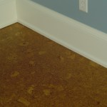 Installed cork flooring