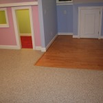 Laminate to carpet at the entrance to this kids room