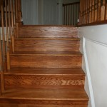 Hardwood over stairs