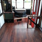 LVT installed on the local Jolly Trolley