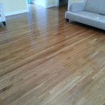 Recently refinished hardwood floor