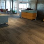 Luxury Vinyl Planks installed in a recently constructed commercial building