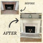 Before & After of a recently completed fireplace